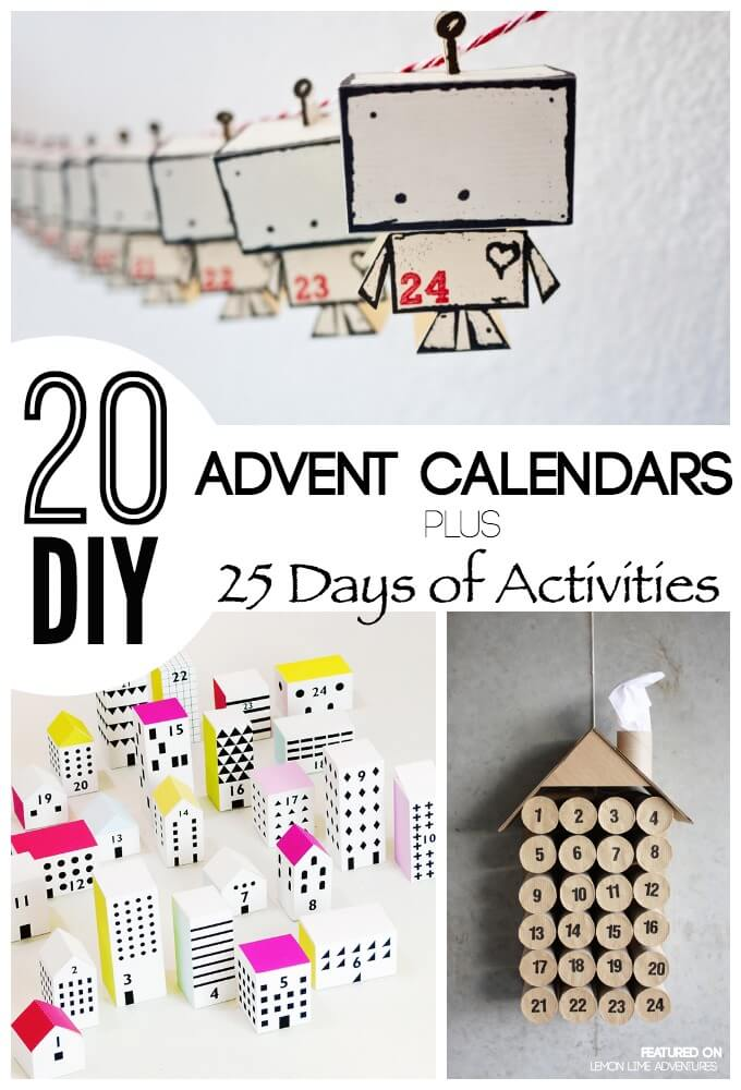 Advent Calendar Diy Ideas : Awesome diy advent calendar ideas days of