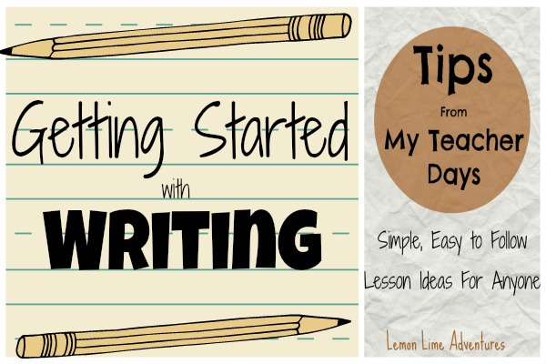 Getting started with writing