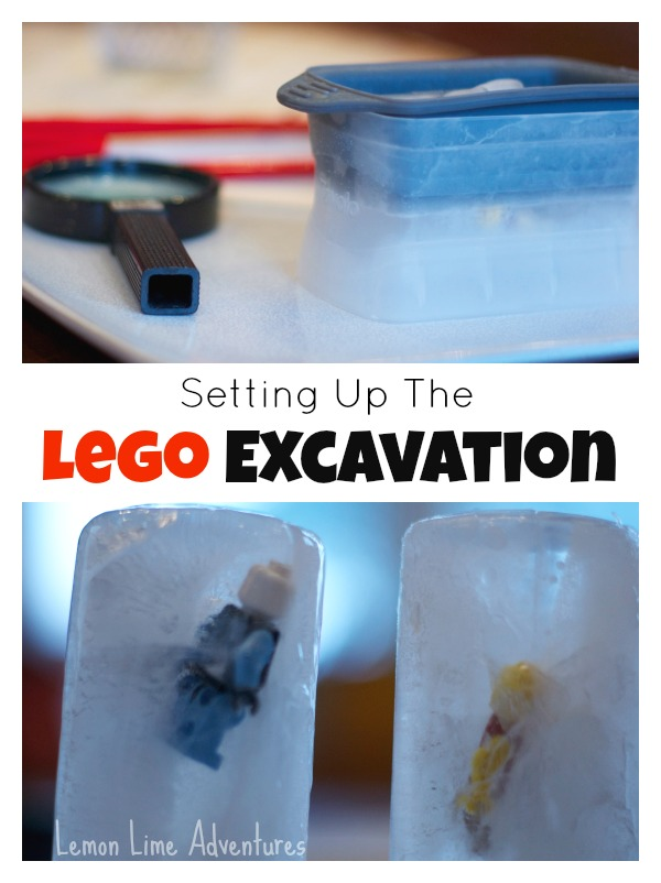 Setting up a Lego Excavation