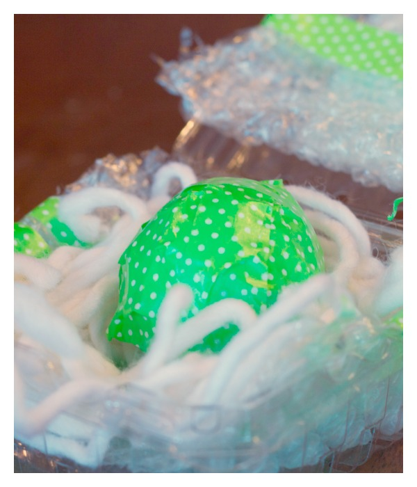Wrapped Egg for Egg Drop