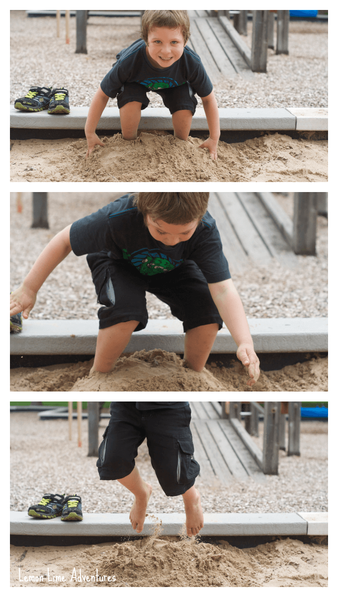 Sand play Jump and Bury