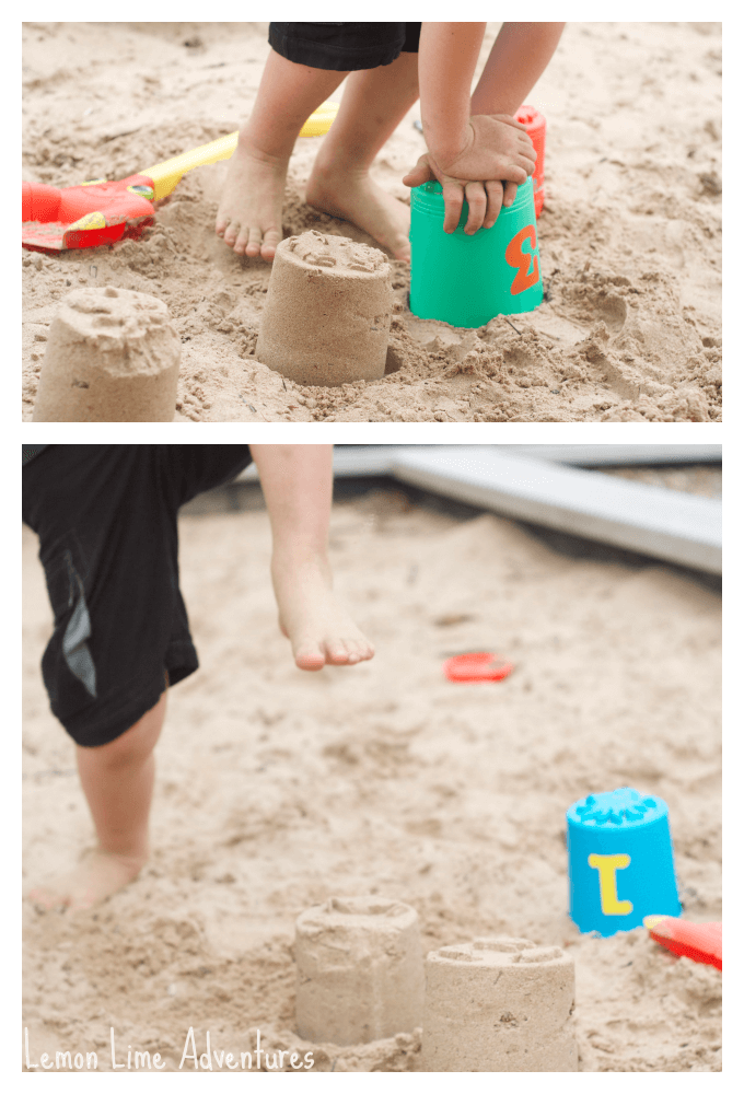 Stomp and Smash Sand Play Ideas