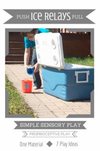 Simple Sensory Play | Push & Dump Ice Relays