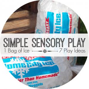 simple sensory play ice series