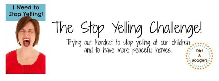 stop yelling challenge