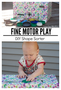 Fine Motor Play with Lids
