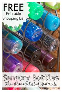 Sensory Bottles | FREE Printable Materials List