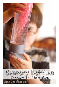 Sensory Bottles | Experimenting with Absorption