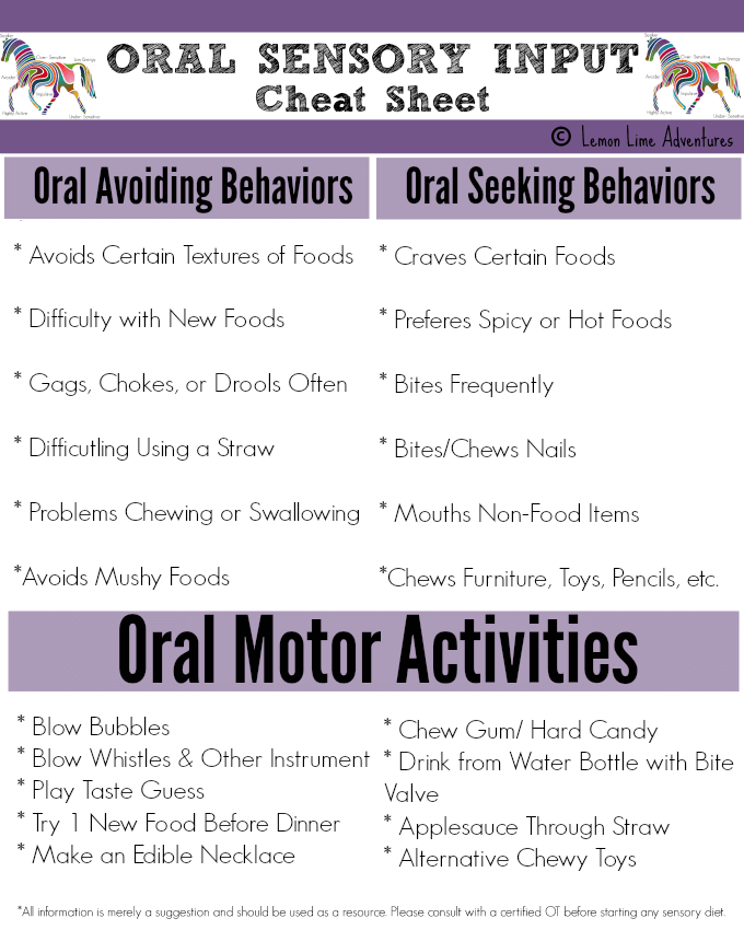 Sensory processing explained oral sensory system for Oral motor exercises for adults