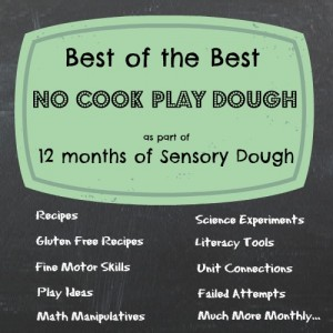 September no cook play dough