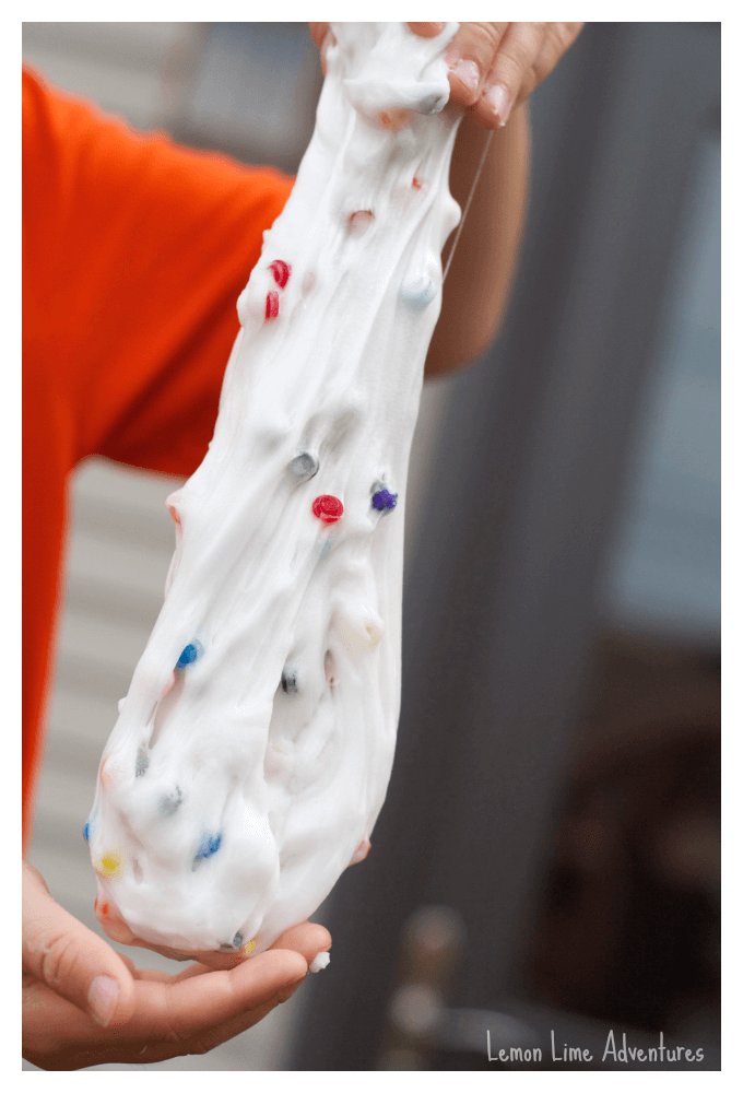 Stretchy Slime with Legos
