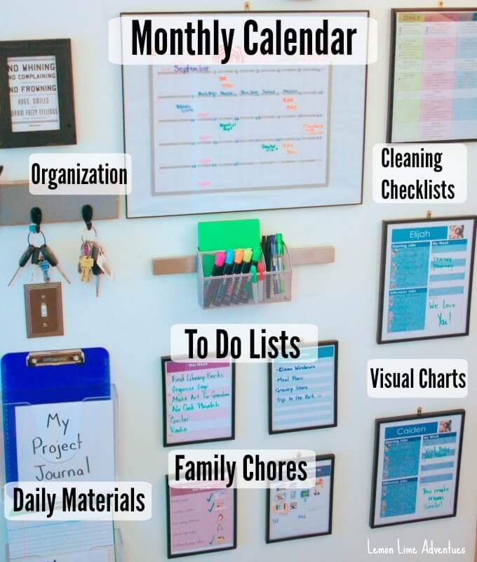 Calendar Organization Chart : Organizing life with a family command center