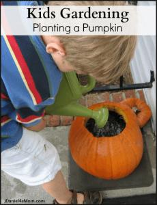 kids-gardening-planting-a-pumpkin