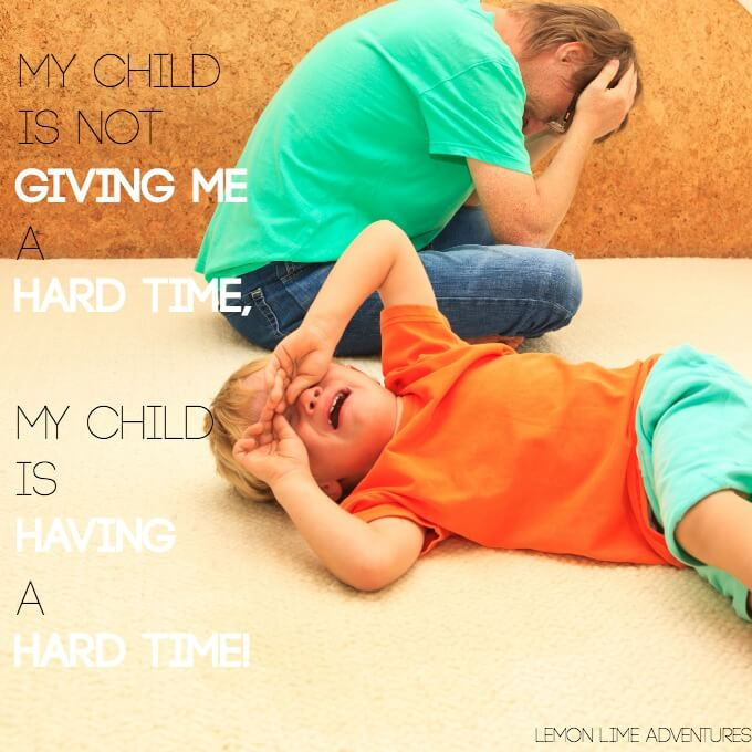 My Child Is Not Giving me a Hard Time Quote