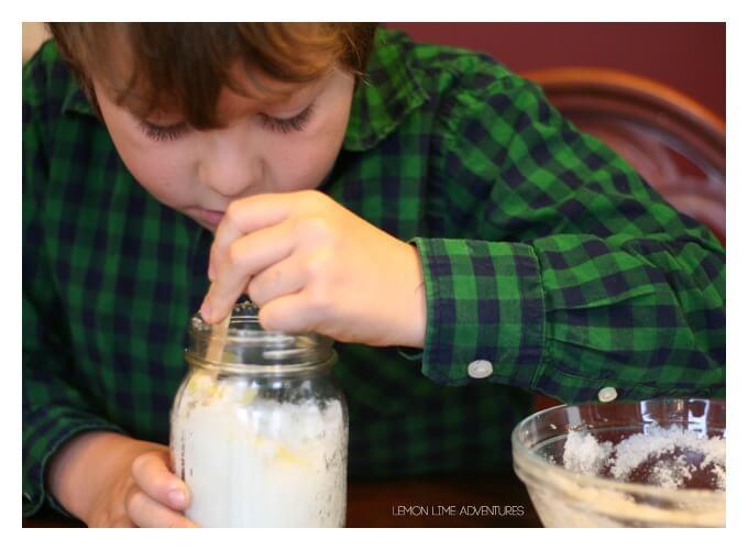 Making Lemon Sugar Scrub with Kids