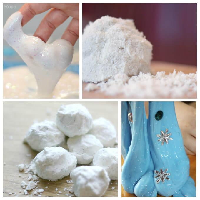 Snow Sensory Play Recipes