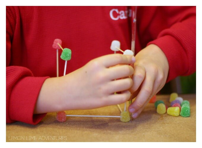 Building with Gumdrops Science Experiment