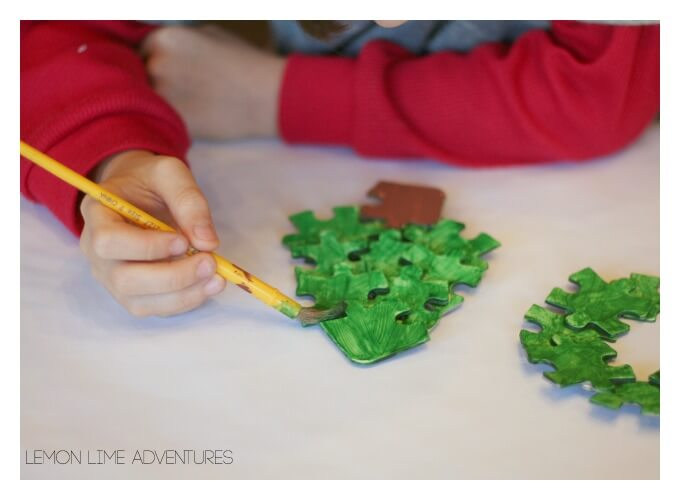 Painting Puzzle Ornaments