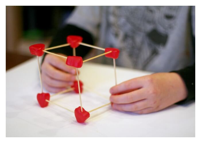 Building Structures with Candy hearts and Toothpicks