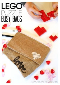 Lego Busy Bags with Puzzles