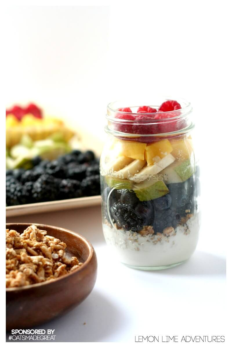 Rainbow Parfait with Tons of delicious and healthy fruit