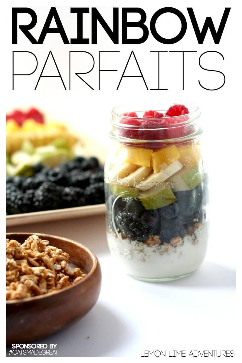 Rainbow Parfait Snack for Kids