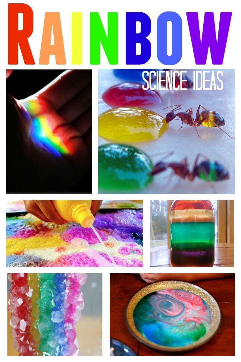 rainbow science project Use household materials to make a bubble rainbow this is a safe, easy and fun project that explores how bubbles and color work.