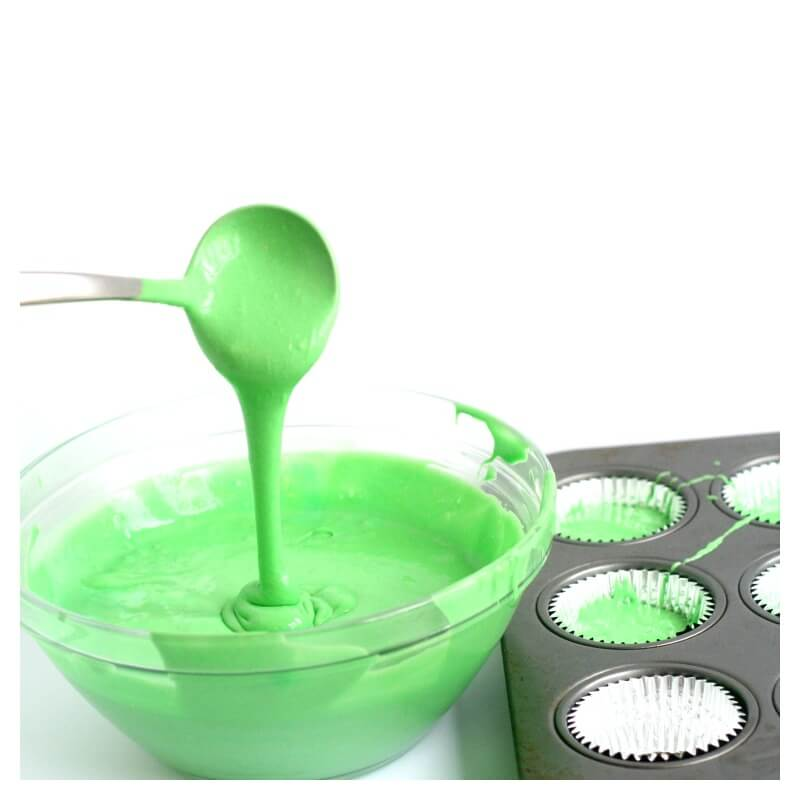 Slime Cupcakes Batter Recipe