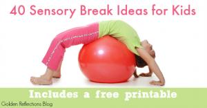 Sensory Break Ideas for Kids