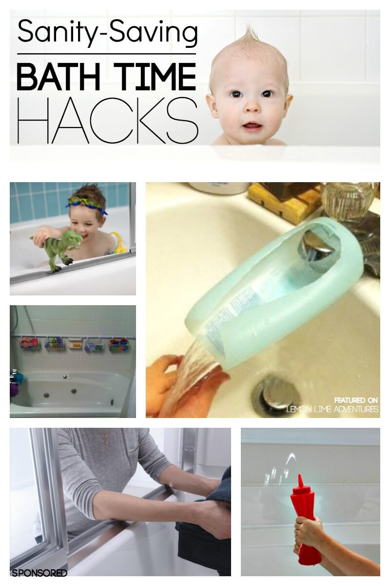 10 must try bath time hacks every parent should know. Black Bedroom Furniture Sets. Home Design Ideas