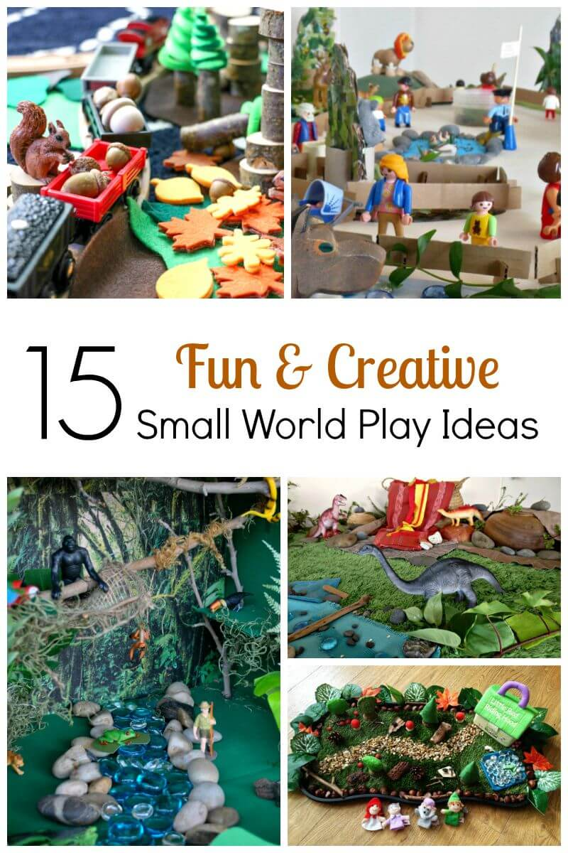Creative Fun For All Ages With Easy Diy Wall Art Projects: 15 Fun And Creative Small World Play Ideas