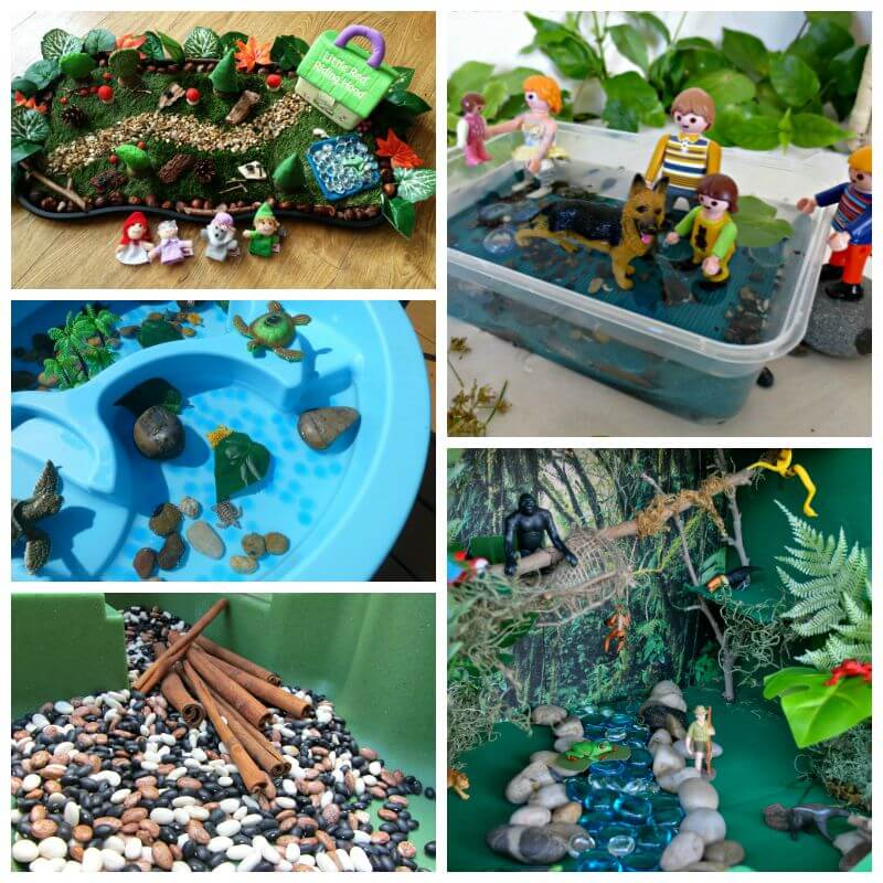 Wow! Perfect small world play ideas to keep kids entertained for hours.
