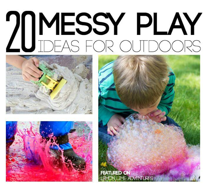Messy Play Ideas for Outside