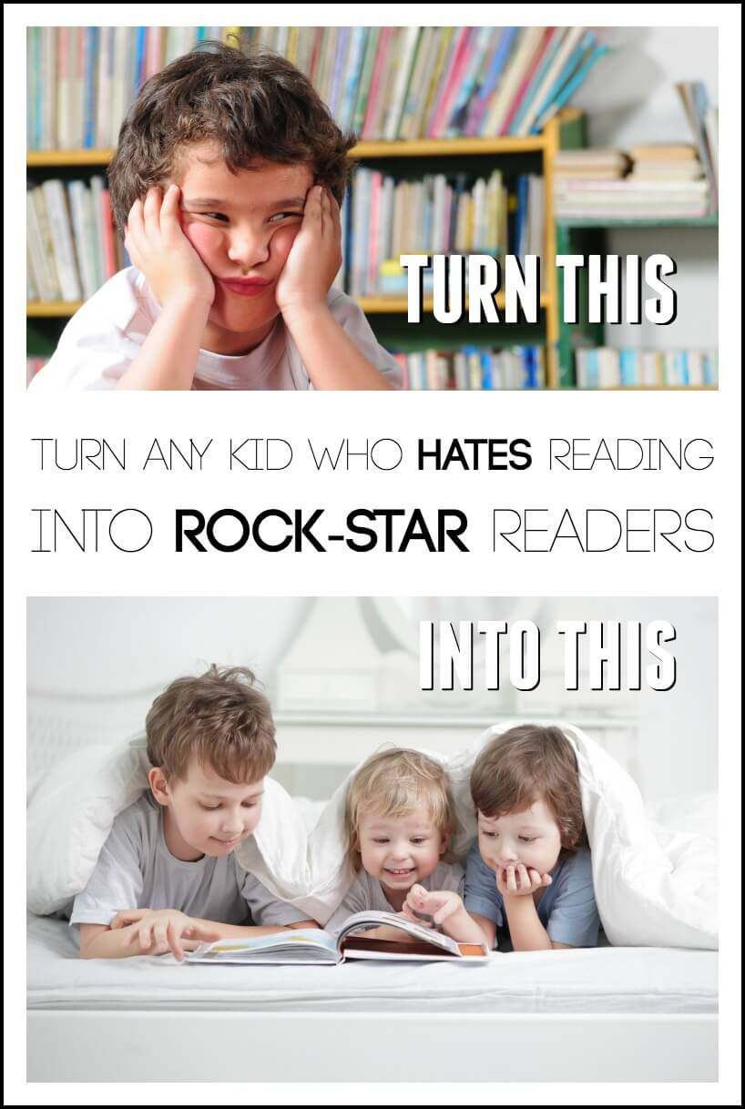 Turn Any Kid Who Hates Reading Into Rock Star Readers
