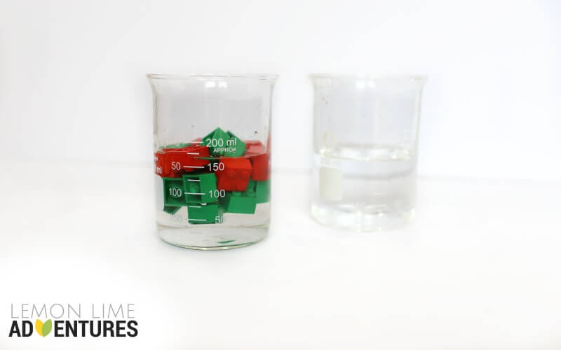 Lego Displacement Experiment with Water