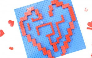 Lego Marble Maze for Valentines Day