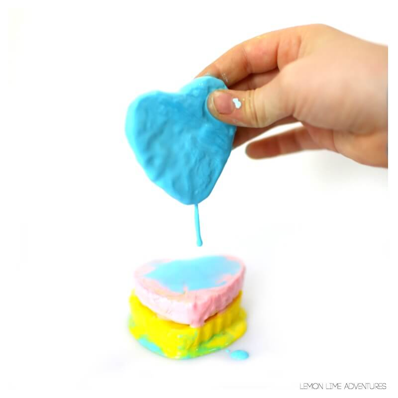 Melted Heart Science Experiment