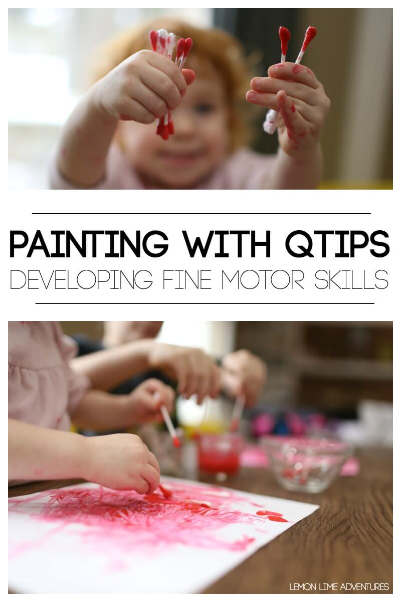 Painting without Brushes for Fine Motor Skills