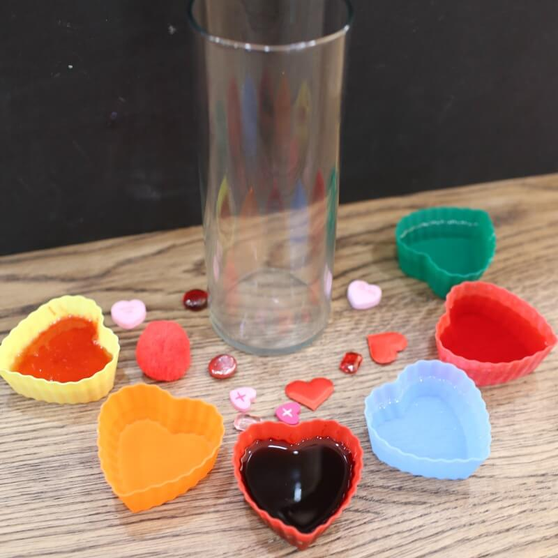 valentines day density jar