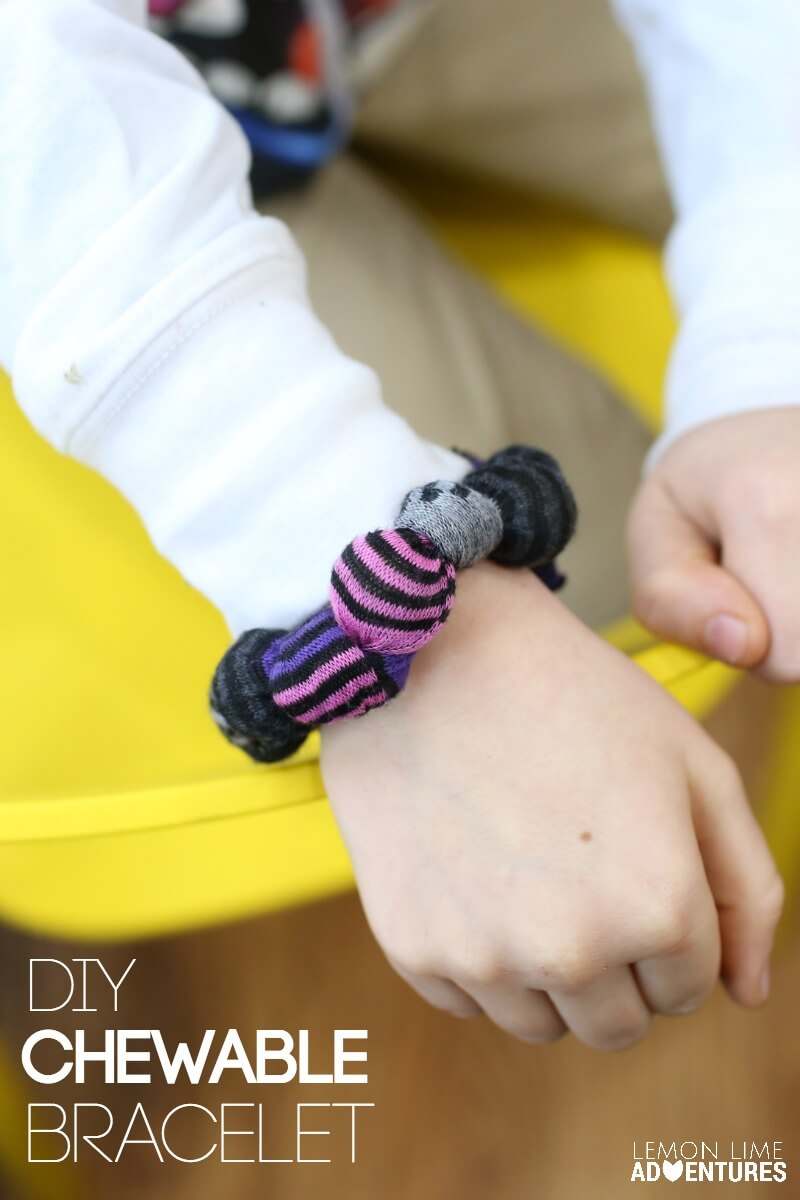 DIY Chewable Bracelet for Kids who Chew Everything