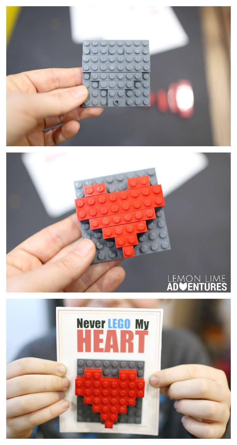 DIY Lego Valentines with Printable