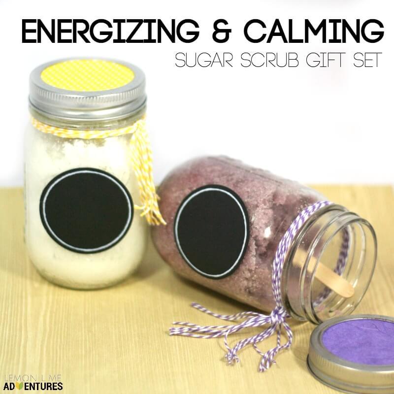 Energizing and Calming Sugar Scrub Gift Set