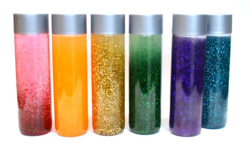 Simple Rainbow Calm Down Jars