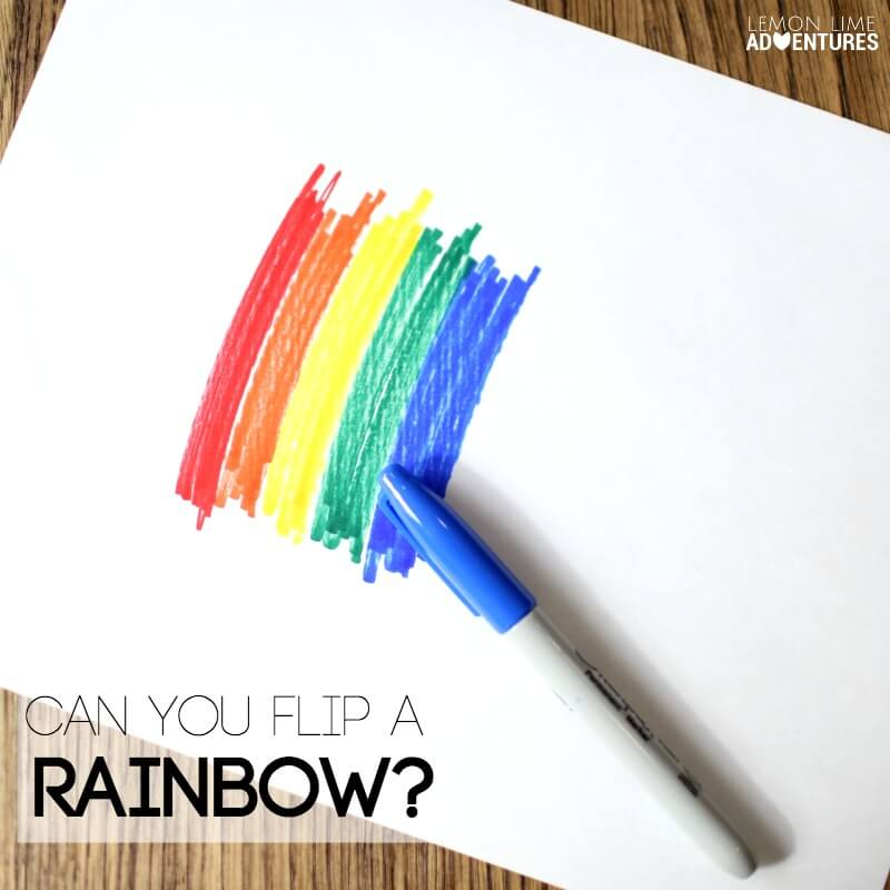 can You Flip a Rainbow Experiment for Kids