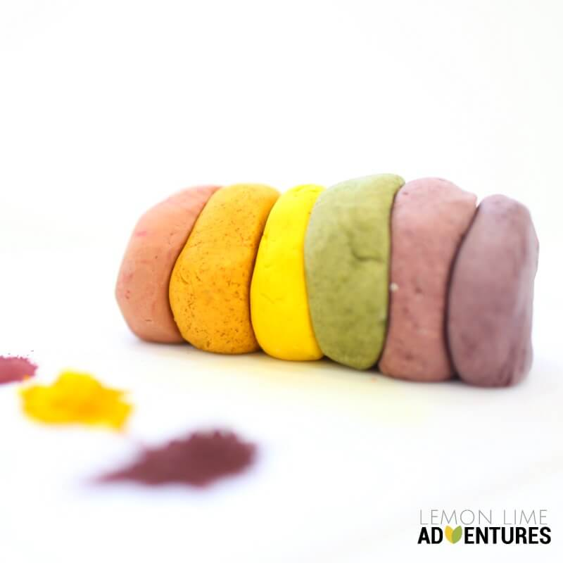 Play dough with natural dyes