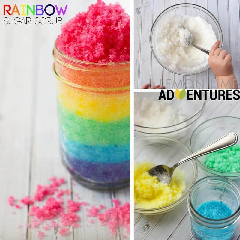 Rainbow Sugar Scrub with Happiness Essential Oil Blend