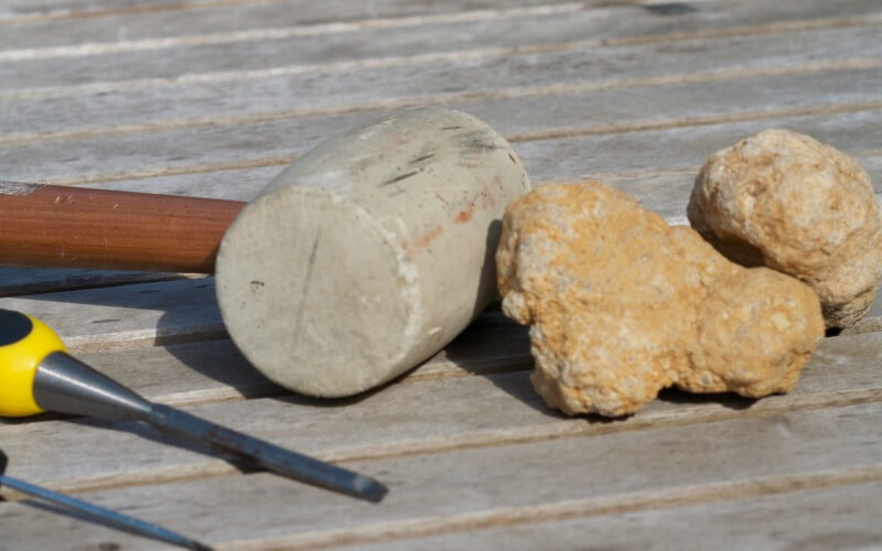 Excatating Geodes with Kids
