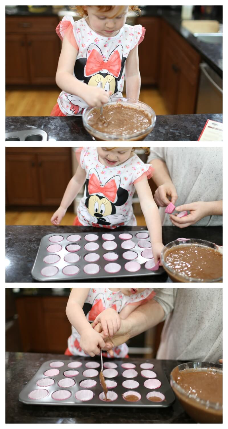 Making Minnie Cupcakes with Mommy