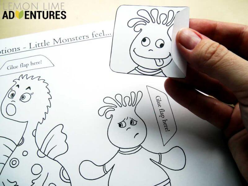 Monster Emotions Simple Emotions Activity