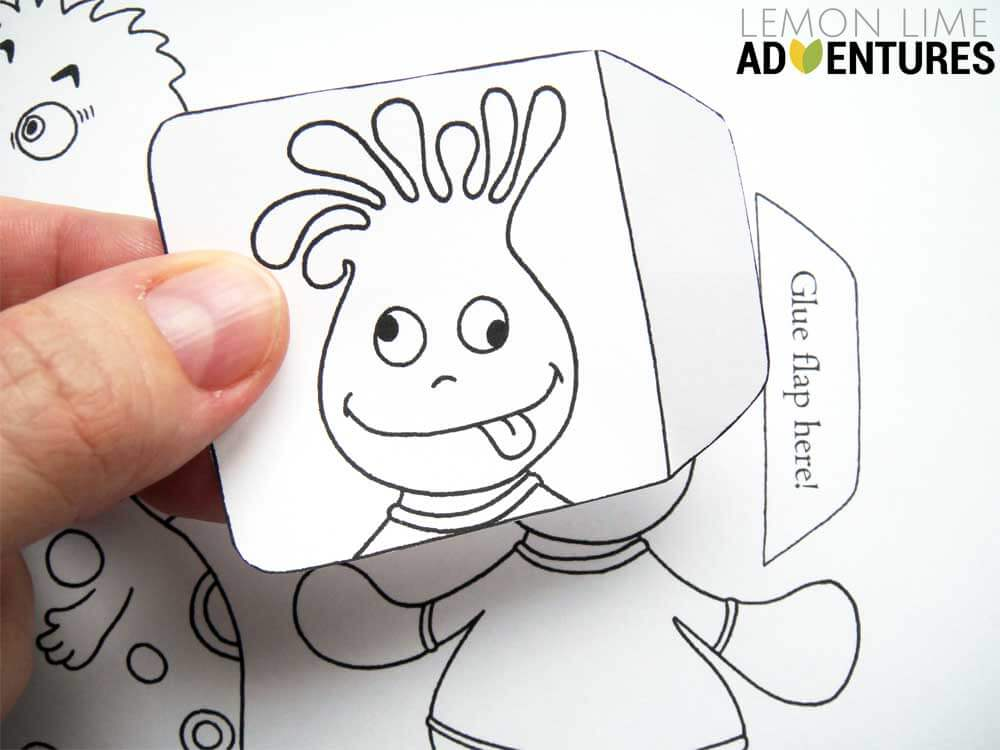 Monster Emotions Printable Activity